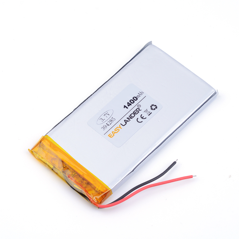 394285 <font><b>3.7V</b></font> <font><b>1400mAh</b></font> Rechargeable li-Polymer Li-ion Battery For PAD GPS PSP Vedio Game E-Book Tablet PC Power Bank 404285 384386 image