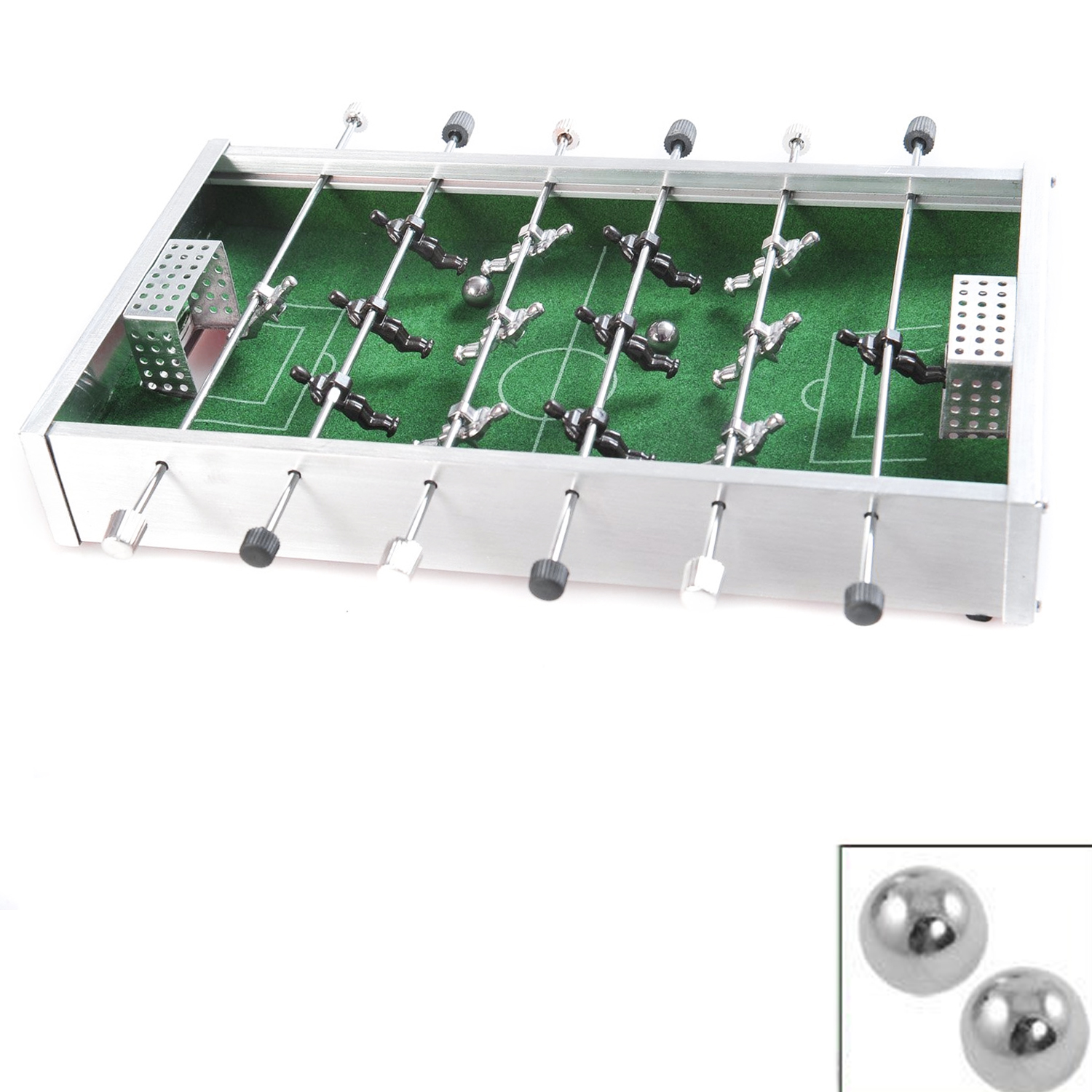 Aluminium Mini Soccer Football Table Game Toys Shooting Game Finger Toy Funny Desktop Party Games For Kids Children Indoors