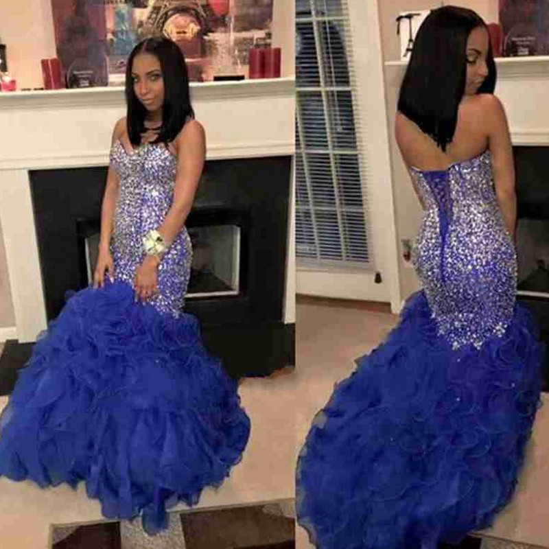 Popular Royal Blue Silver Prom Dresses-Buy Cheap Royal Blue Silver ...