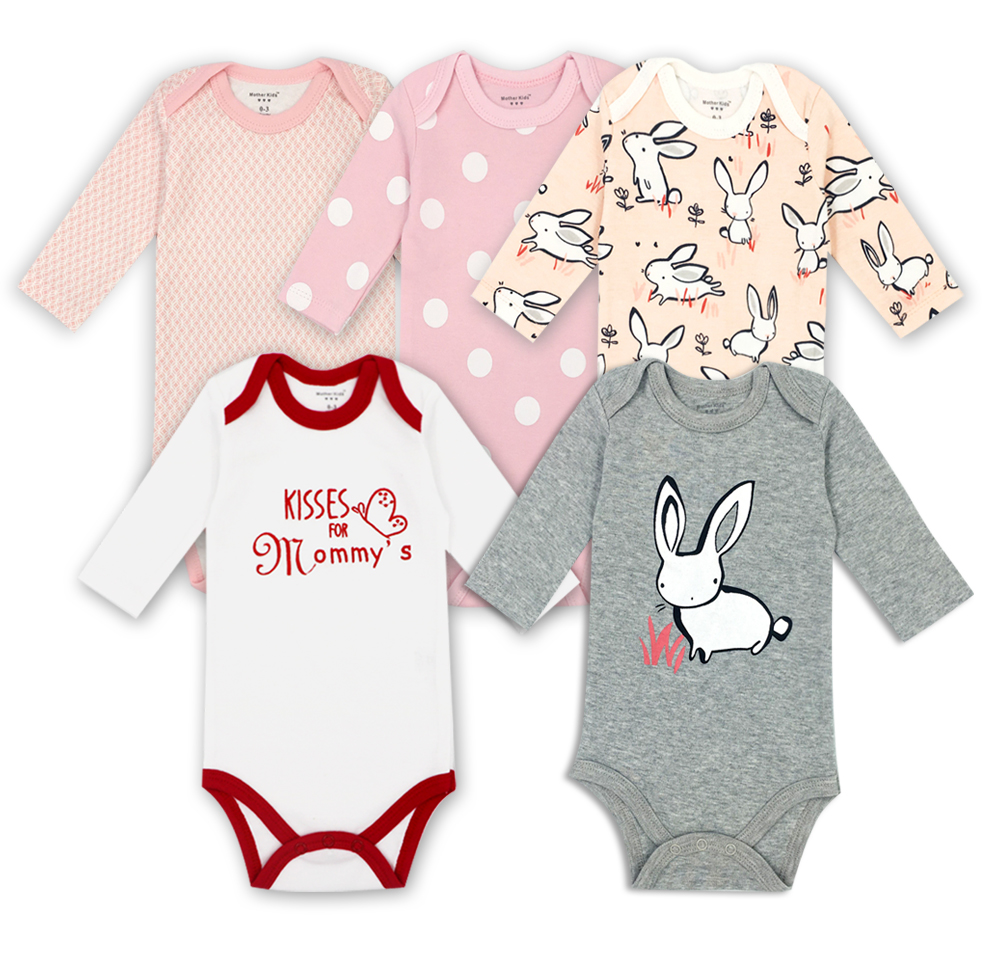 Originele Babykleding.5 Stks Partij Boxpakjes Originele Baby Jumpsuits Herfst Overalls
