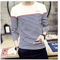 Men's Fashion Tops & t-shirts 2016 T-shirts of the highest quality and comfortable striped simple free shipping