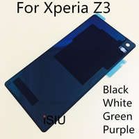 ISIU Phone Cover Case For Sony Xperia Z3 Back Glass Cover Mobile Phone Rear Housing Battery
