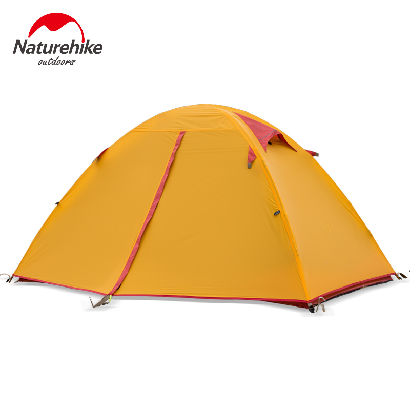 Waterproof Camping Tent Naturehike Outdoor Backpacking Light-Weight 2 Person Double Tent Portable Shelter Tents With Carry Bag outdoor double layer 10 14 persons camping holiday arbor tent sun canopy canopy tent