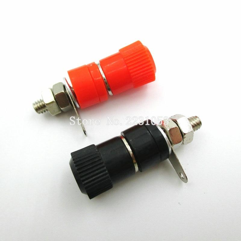 10 PCS/LOT Borniers JS-910B 4mm Amplificateur Terminal Connecteur Liaison Poste Banane Prise Jack Montage Noir 5 Rouge 5