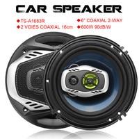 2Pcs 6Inch 16cm 600W 2 Way Car Coaxial Loud Speaker Auto Audio Speakers Music Stereo Full Range Frequency Hifi Loudspeakers