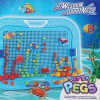 Kids Mushroom Nail Kit Puzzle Toys 3D Mosaic Picture 298 360pcs Children Educational Gift Toy Brinquedos