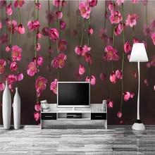 Custom wallpaper fantasy flower TV background wall painting waterproof material