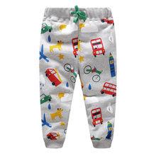 2dddf522a Jumping New Baby Boys Pants Kids Harem pants Autumn thick animal dinosaur  Cotton car Pants Children Trousers for boys long pants