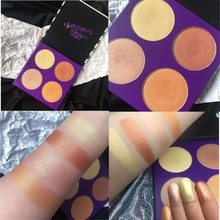 4 Colors Highlighter Powder Palette Shimmer contour Kit Eyeshadow Palettte Bronzer Makeup