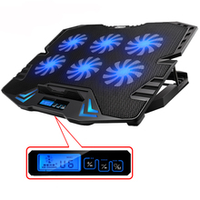 ICE COOREL 12-15.6 inch Laptop Cooling Pad Laptop Cooler USB Fan with 6 cooling Fans Light Notebook Stand Quiet for laptop