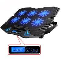 ICE COOREL 12-15.6 inch Máy Tính Xách Tay Cooling Pad Laptop Cooler USB Fan với 6 Quạt làm mát Ánh Sáng Máy Tính Xách Tay Đứng Yên Tĩnh cho máy tính xách tay