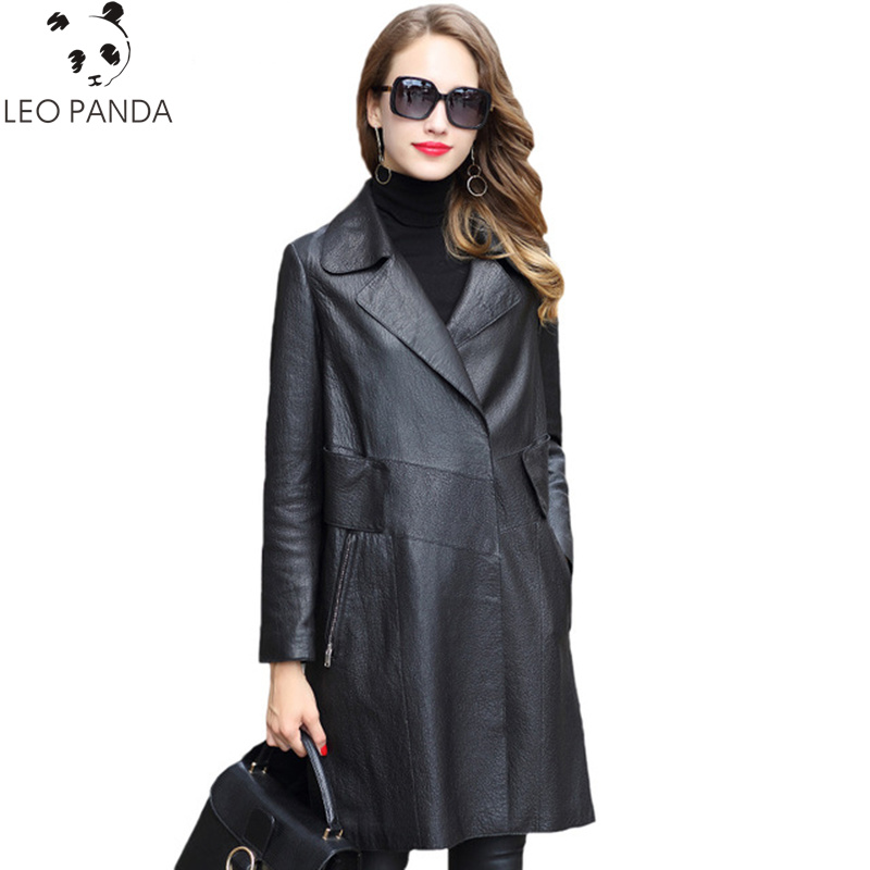 f7be9c04a03 WHOLESALE ~ Superior quality Genuine Leather Jacket Women 2019 New Long  Natural Sheepskin Coat Female Spring Autumn Real Leather Jackets