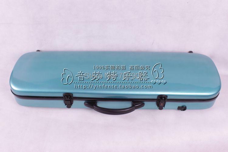 ФОТО blue     color    4/4 Violin case Glass Fiber Soft Imitate Leather Pink White Black #001