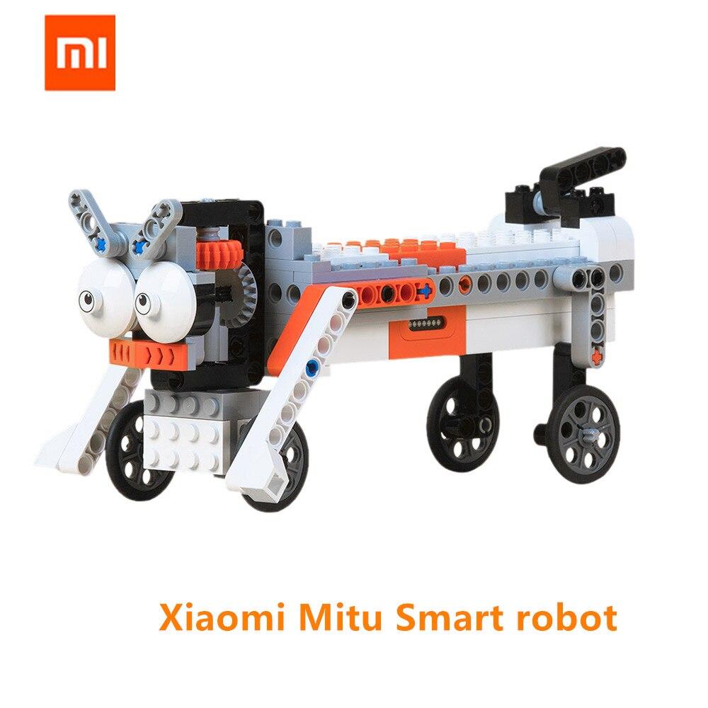 Xiaomi Mijia Mitu Robot de bloque de construcción Robot 305 ladrillos móvil Bluetooth teléfono remoto Control de APP para el hogar inteligente Xiaomi