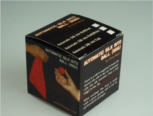 Automatic Silk Into Ball (NEW) White/Red Color Magic Trick,Stage Magic,Close Up,Fire,Comedy,Accessories,Gimmick