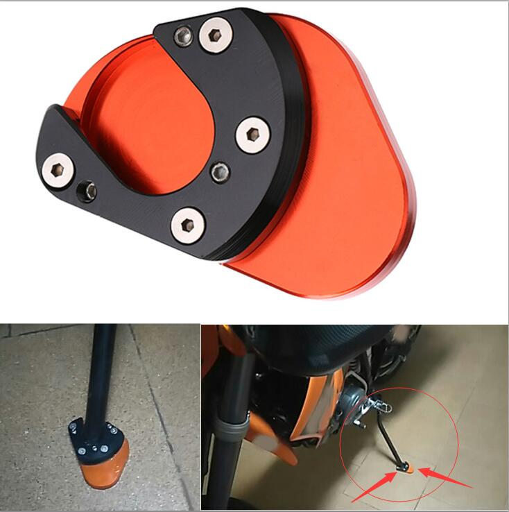 Dongzhen Motorcycle Kickstand Plate Foot Side Moto Stand Enlarger Extension Pad For KTM 950 Super Enduro SM 2001- 2011 KTM 990 for bmw f800r 2009 2012 2013 2014 hp2 08 motorcycle cnc aluminum side stand enlarger cnc kickstand pate pad side stand enlarger