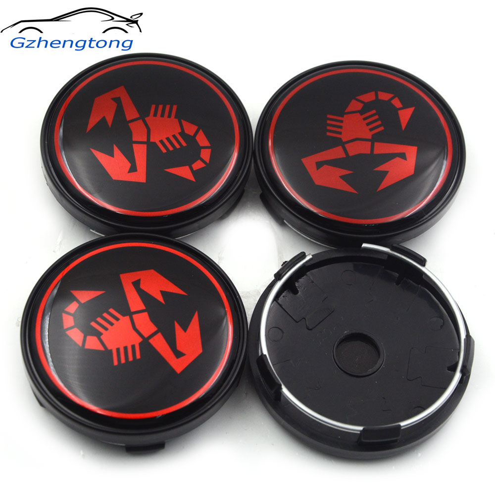 Humorous Gzhengtong 4pcs/lot 60mm 3d Scorpion Car Wheel Center Cap Car Rim Hub Cap For Fiat 500 Punto Bravo Stilo Panda Abarth 500 Decal Limpid In Sight