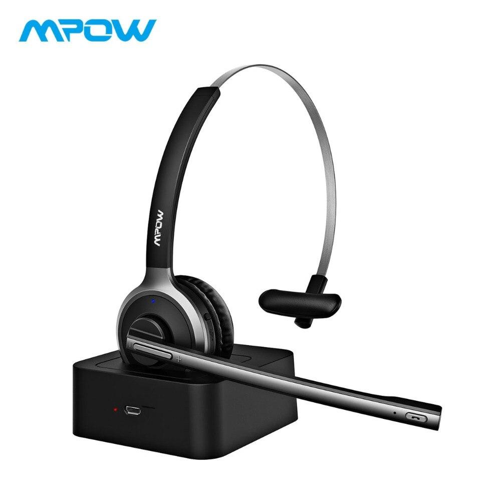 2019 Mpow M5 Pro casque sans fil Bluetooth sur l'oreille Krystal clair suppression de bruit casque avec Microphone et Base de charge