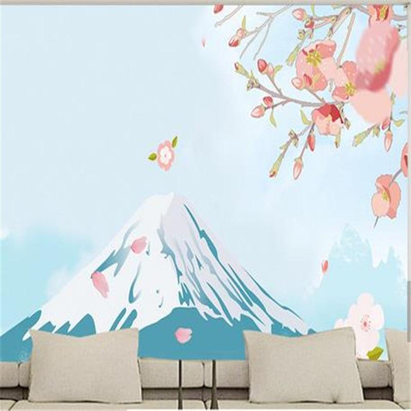 Personnalisé Photo fonds d'écran 3D Nature paysage bois peintures murales fleurs arbre fonds d'écran pour salon chambre fond décor à la maison