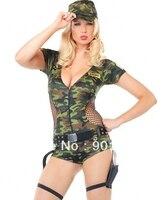 ÜCRETSIZ KARGO 8978 Yetişkin Seksi Ordu Kız Fantezi Elbise Kostüm Bayanlar Bayanlar Kadın BN