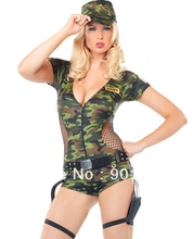 FREE SHIPPING  8978 Adult Sexy Army Girl Fancy Dress Costume Ladies Womens Female BN