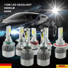 SPEVERT Upgrade 110W 26000LM H4 H1 H7 H8/H9/H11 LED Car Headlight Conversion Kit Diamond White 6000K Replacement Bulbs DE Seller