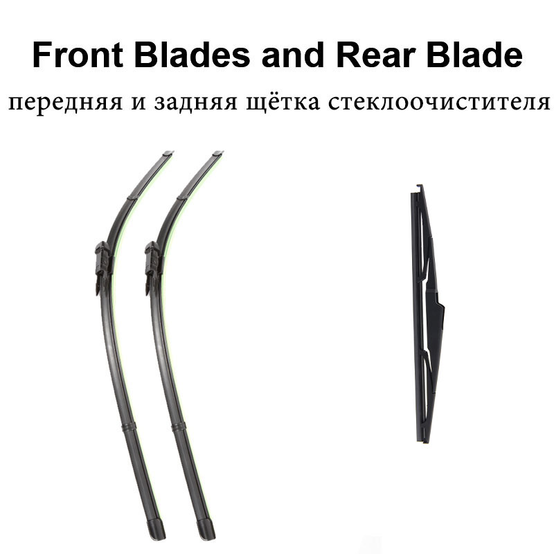 REFRESH Щетки стеклоочистителя для Renault Koleos Fit Pinch Tab Arms 2008 2009 2010 2011 2012 2013 - Цвет: Front and Rear