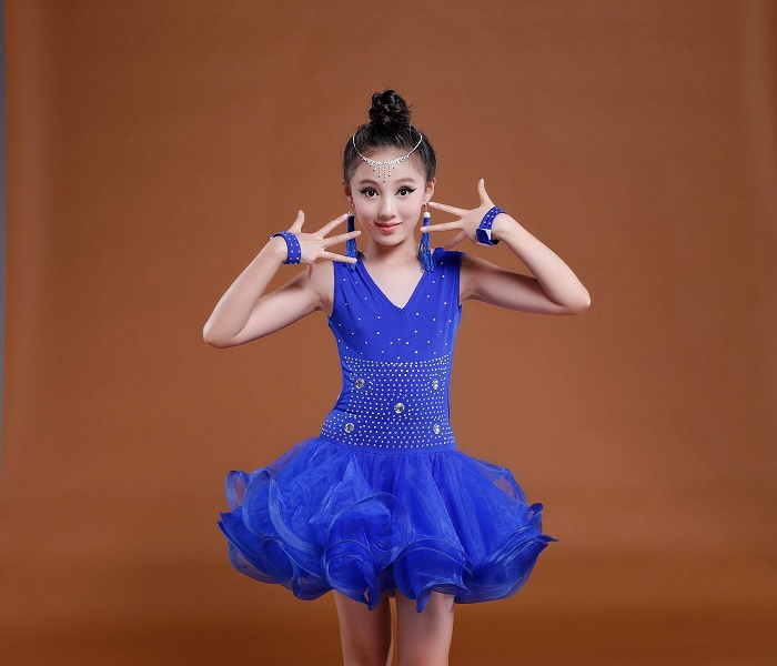 2017 Latin Dance Dress Children Girls Ballroom Dance Dresses Girl Samba Dress Modern Dance Costumes for Kids Club Dresses 2016 sale new knee length kids kids dresses for girls free shipping2013 fashion dance dressperformance wear costumes th3004c