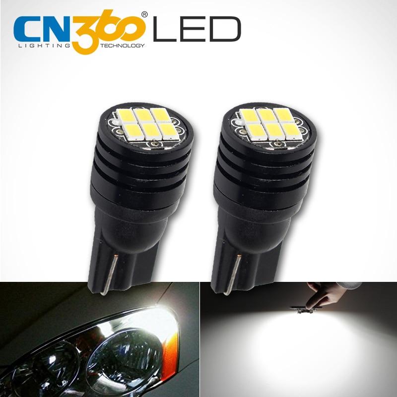 CN360 2 STUKS Super Bright Canbus Geen fout SMD3020 T10 W5W 168 194 Auto LED-leesspiegel Kenteken Breedte licht Binnenverlichting