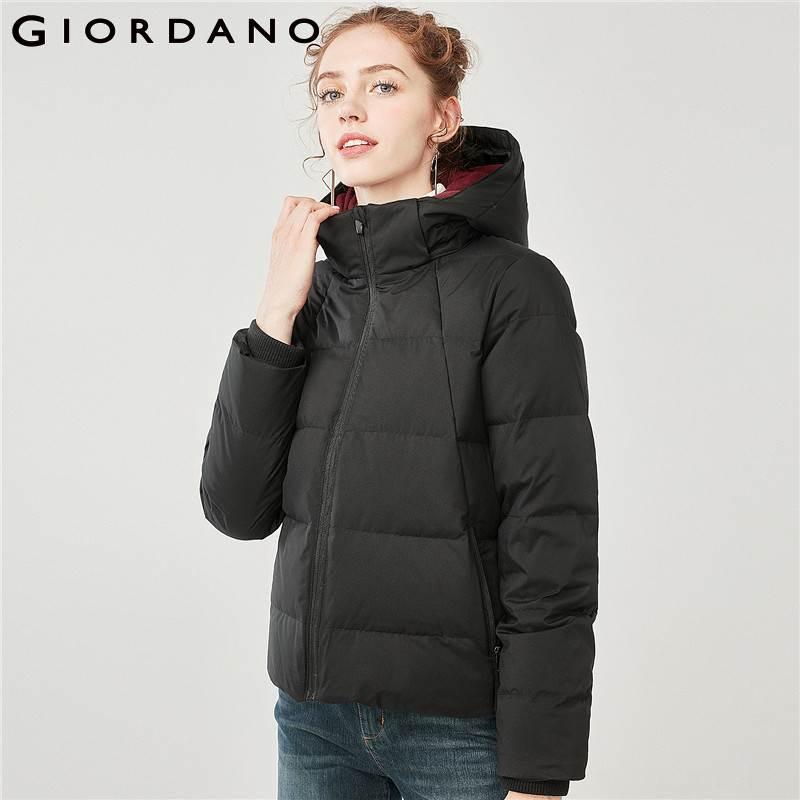 Giordano Women Down Jacket Detachable Hood 90% Grey Duck Down Jackets Women  Windproof Zip Pocket Water resistant Down Jackets|Down Coats| - AliExpress