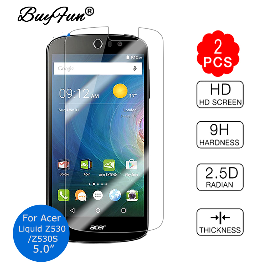 2pcs/lot Tempered Glass For Acer Liquid Z530 Z530S 5.0 9H 2.5D Permiun Screen Protector Film Guard For Acer Z 530 Z530 S Cover