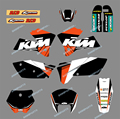 0073 Black&White NEW TEAM GRAPHICS WITH MATCHING BACKGROUNDS FIT FOR KTM Motorcycle SX 125/250/380 /400/520 2005-2006