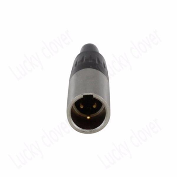 Mini XLR 3-Pin Male Cable Inline Plug Small 3-pin TA3F Female socket Connector