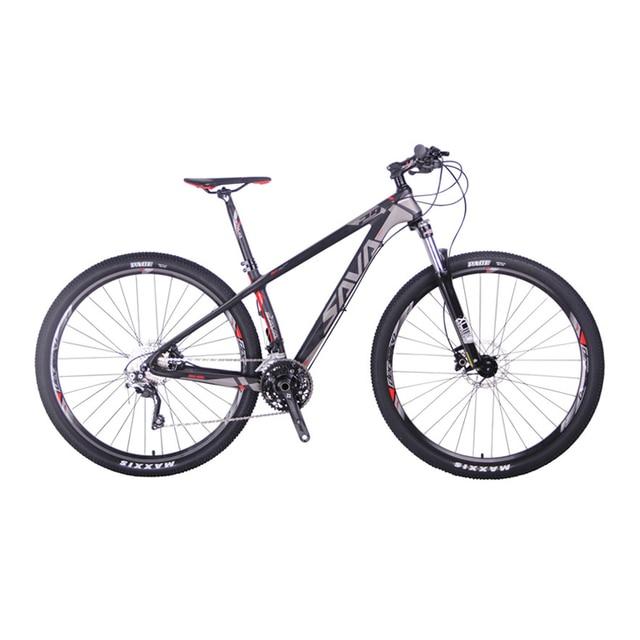 """Сава deck300 30 Скорость углерода Волокно T700 MTB горный велосипед 29 """"Сверхлегкий Велосипедный Спорт Цикл Shimano M610 переключатель и гидравлический тормоз"""