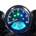 1Piece Universal 12000RMP LCD Digital Speedometer Odometer Tachometer Fuel Meter 1-4 Cylinders Motorcycle Digital Gauge Refit