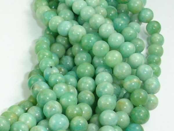 Hot sale New Fashion  6mm - 15.5 Inch 66 beads One strand Hole 1mm Amazonite Beads Diy Bracelet Necklace For Jewelry