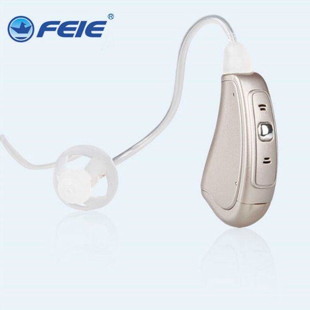 FEIE MY-19S RIC Digital hearing aid BTE  wireless headset hearing aid receiver feie drop shipping