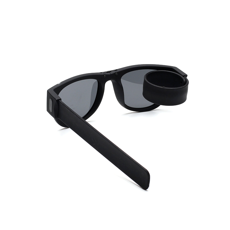 Badtemper Modern Protable Wrist Sunglasses Men Women New Clap Ring Foldable Outdoor Cool Black Beach Sun Glasses For Men