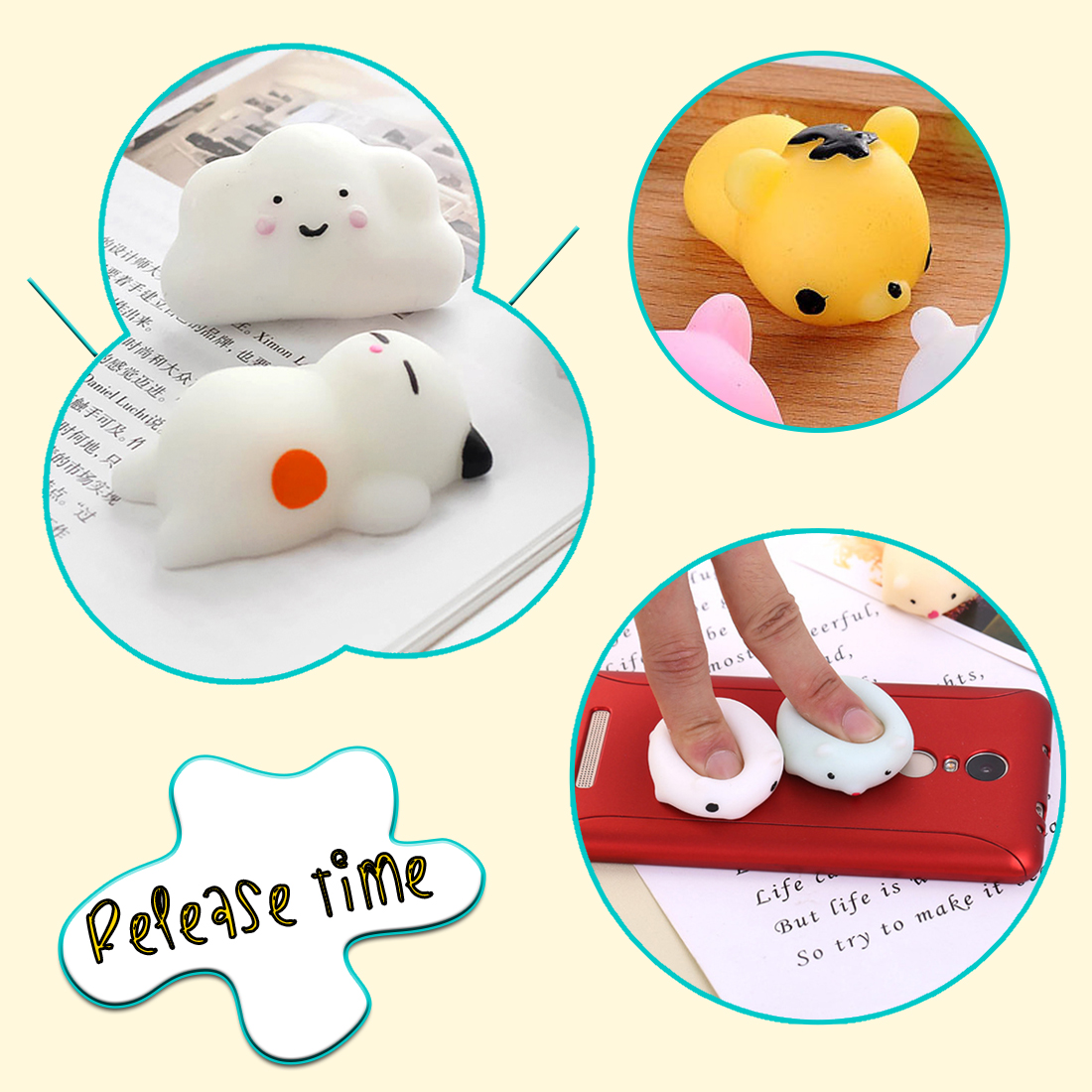 Mobile Phone Accessories Etmakit Mini Squishy Seal Cute Phone Straps Slow Rising Soft Press Squeeze Kawaii Bread Cake Kids Toy Phone Diy Accessories Mobile Phone Straps