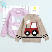 Winter Boys Girls Bear Car Pattern Sweaters 2017 Adult Clothing Knitted Children Sweater Kids Clothes Pullover Baby Boy Sweater