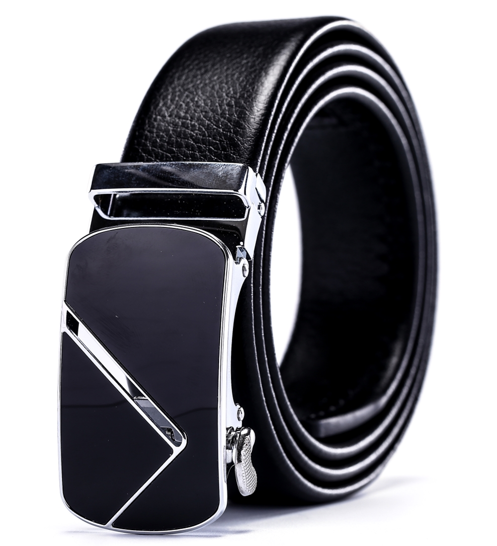 Business strap mens belt luxury 2018 new hot designer high quality fiber leather big size 160 cm 150 140 automatic buckle formal