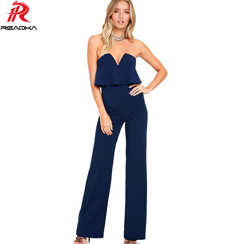 9f9848a474e 2018 Sexy Women Black White Stitching Summer Jumpsuits Hot Halter Full  Length Pants Playsuit Women s Slim Party Rompers Overalls