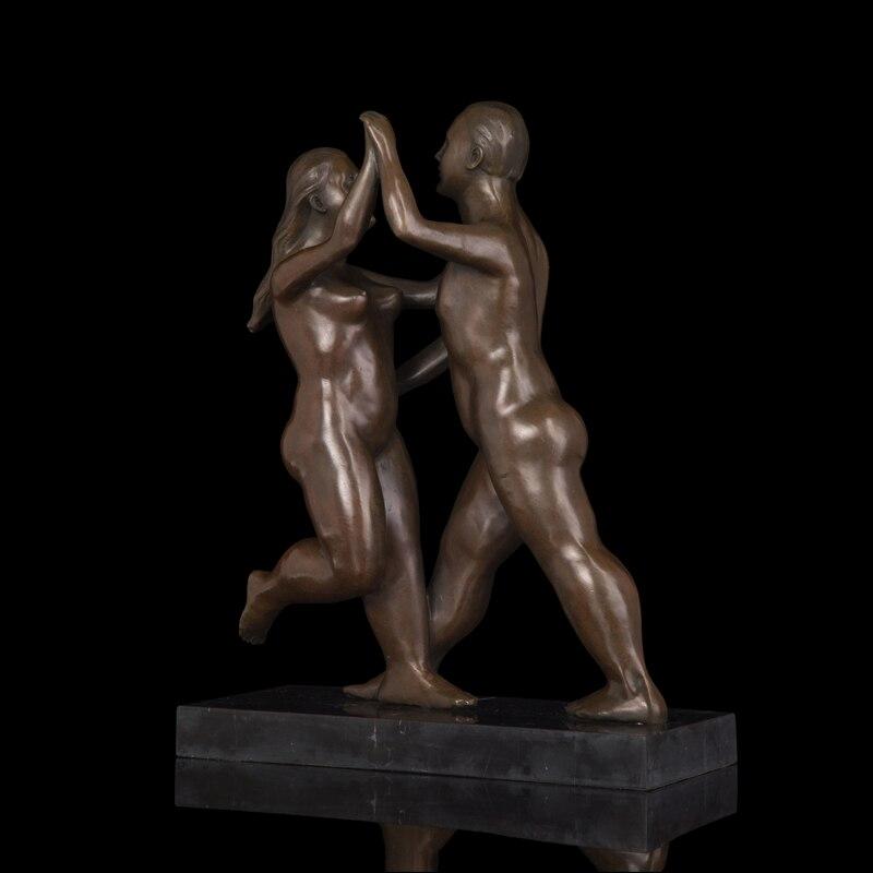 Reale Bronzo Originale Astratta Nudo Femminile Figura Scultura Statua Arte Moderna Decorazione del Giardino In Ottone BronzoReale Bronzo Originale Astratta Nudo Femminile Figura Scultura Statua Arte Moderna Decorazione del Giardino In Ottone Bronzo