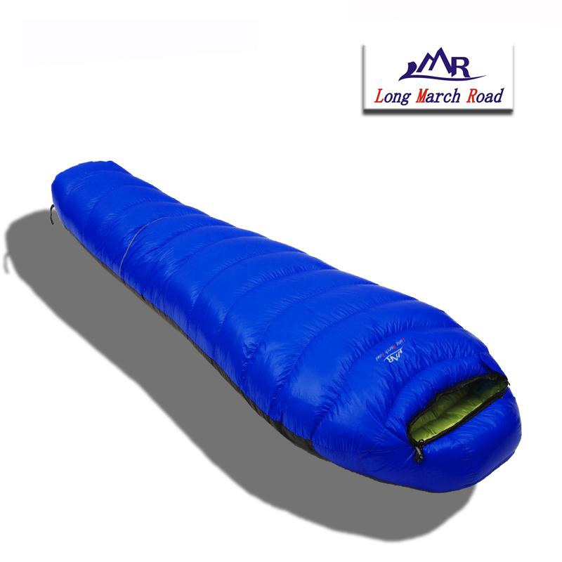 LMR Ultralight Waterproof Comfortable White Goose Down Filling 1200G Can Be Spliced Sleeping Bag Sac De