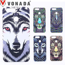 Vonada Forest King Case for Huawei Nova 2 / Nova 2 Plus Animals Lion Wolf Owl Pattern PC Hard Glow In Dark Luminous Case Cover