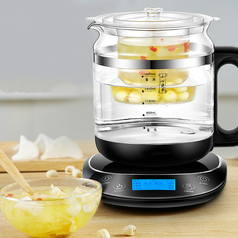 Electric kettle raised pot automatic thickened glass electric hot flower teapot Fried Chinese medicine Overheat Protection цены