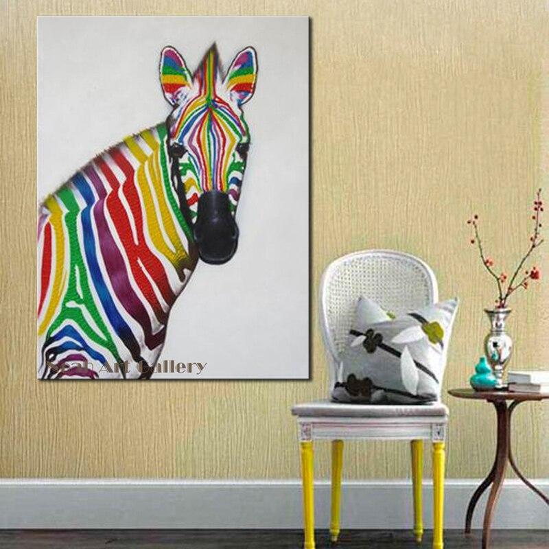 Neueste Tier Design Moderne Leinwand Wandkunst Zebra