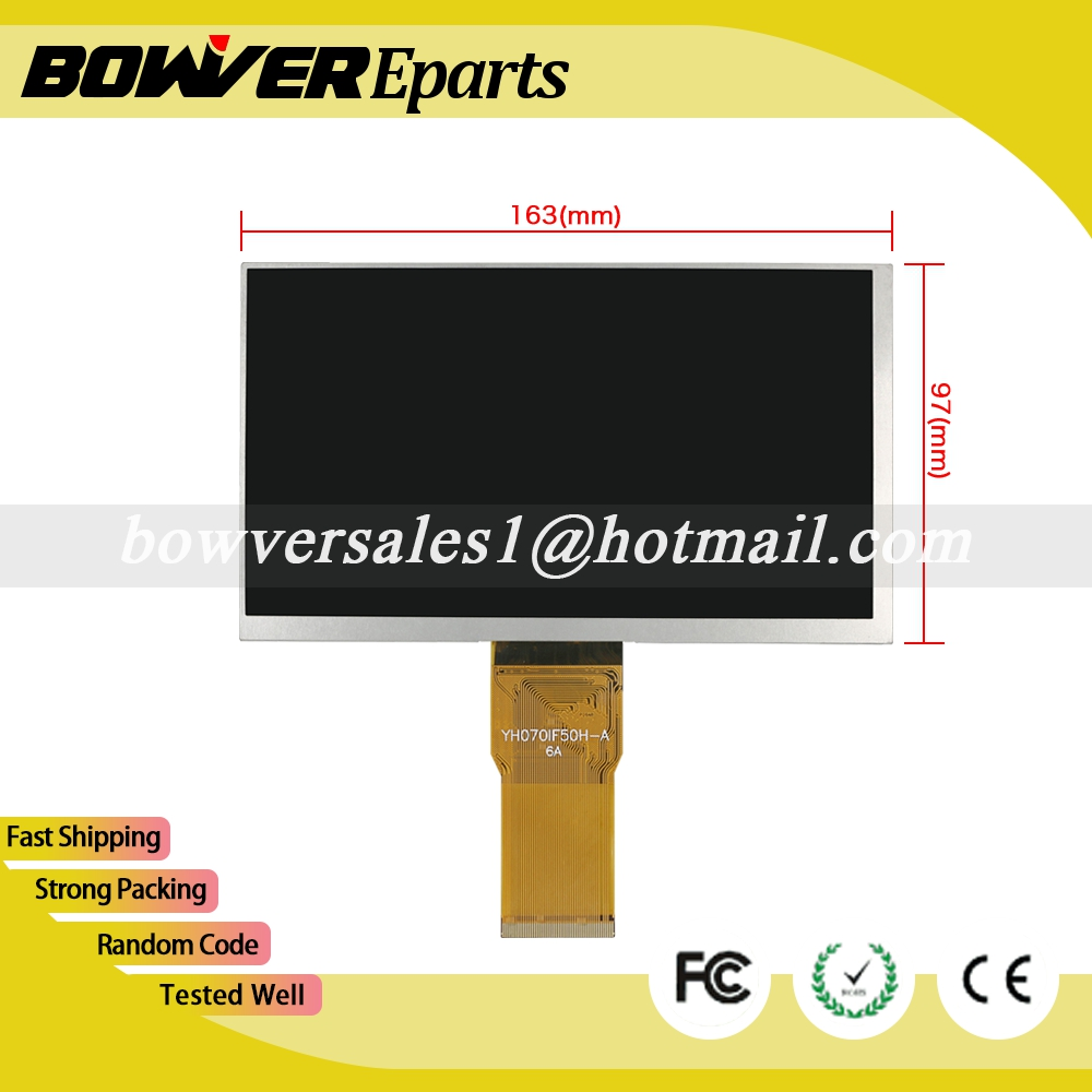 A+  7 inch YH070IF50H-A 163*97mm LCD Display Screen Repairment Parts Tablet Pc high quality 7 inch for lenovo a5000 a3000 a3000 h lcd display screen repairment parts tablet pc