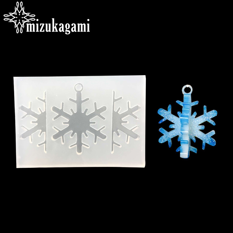 1pcs UV Resin Jewelry Liquid Silicone Mold 3D/4D Snowflake Shape Resin Charms Molds For DIY Intersperse Decorate Making Molds