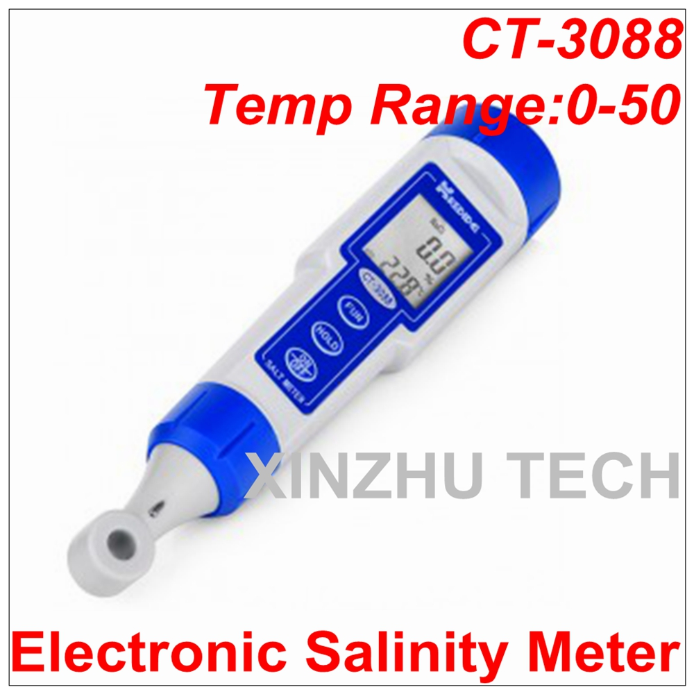 High Quality CT-3088 Inductive Salt Meter Electronic Salinity Meter Temperature 0-50 Degrees Salinity Tester Range:0.0%-10.0% ct 3086 salinity meter portable salinity meter brackish meter precision pen style digital salinity meter 0 0
